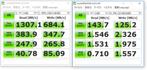SSDとSSHDの速度比較